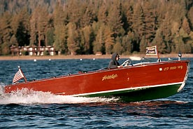 Woodie Boat Lake Tahoe